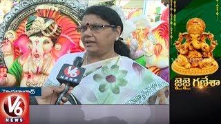 Ganesh Idols Sale Increased In Hyderabad City | Vinayaka Chaturthi | V6 News