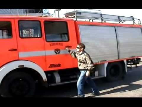 Bombeiros no Uruguai - Desfile de Carros de Bombeiros  no Uruguay. .