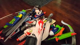 Ethans Nerf Gun and Armory Collection!! Tons of Toys!!
