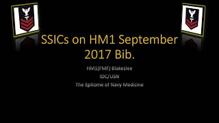 HM1 Bibliography   SSIC September 2017