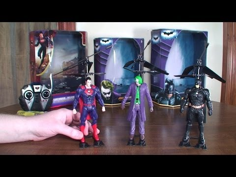 World Tech Toys - DC Comics Helicopters (Superman. Batman. and Joker) - Review and Flight