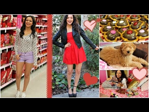 Valentine's Day Hair. Makeup & Outfit ideas! + Easy V-day treat!
