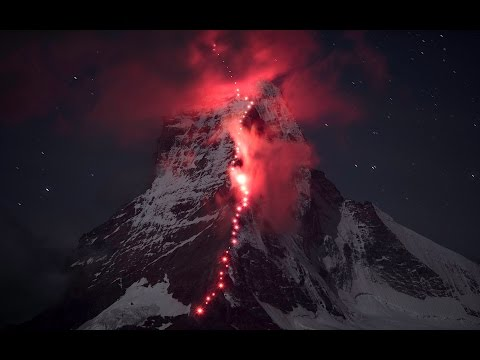 Thumbnail of video Hundreds Of Mountaineers Climb The Alps --Mammut Making Of Key Visual Matterhorn
