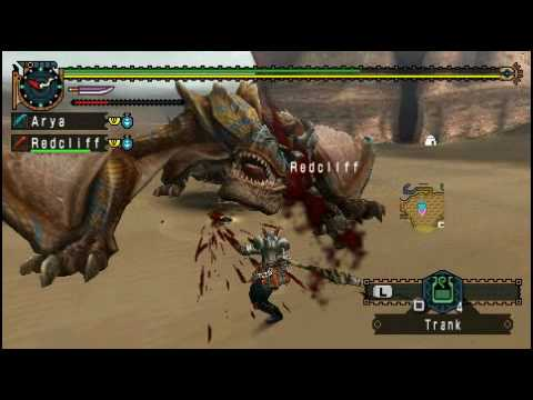Let's Play MHFU - Duo Tigrex [Drago+Redcliff/German] P2