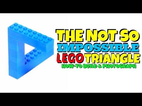 THE LEGO IMPOSIBLE LEGO TRIANGLE - HOW TO BUILD (LEGO OPTICAL ILLUSION)