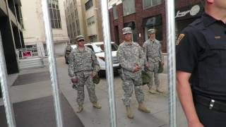 US.Army helps police