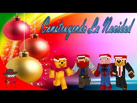 Construyendo La Navidad   Blitz Build - Minecraft   Con Sara, Exo y Luh