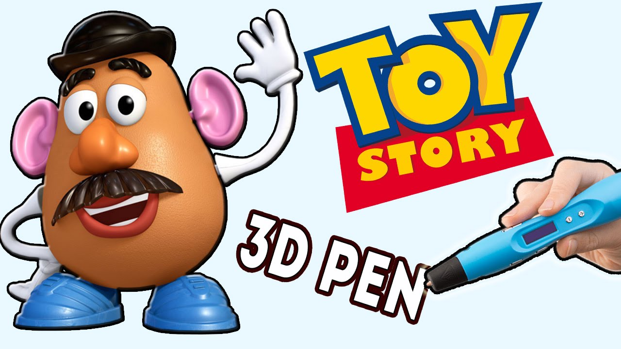 КРУТООО!! МИСТЕР КАРТОШКА 3Д РУЧКОЙ РИСУЕМ ИСТОРИИ ИГРУШЕК/ 3d pen mr. potato head  toy story