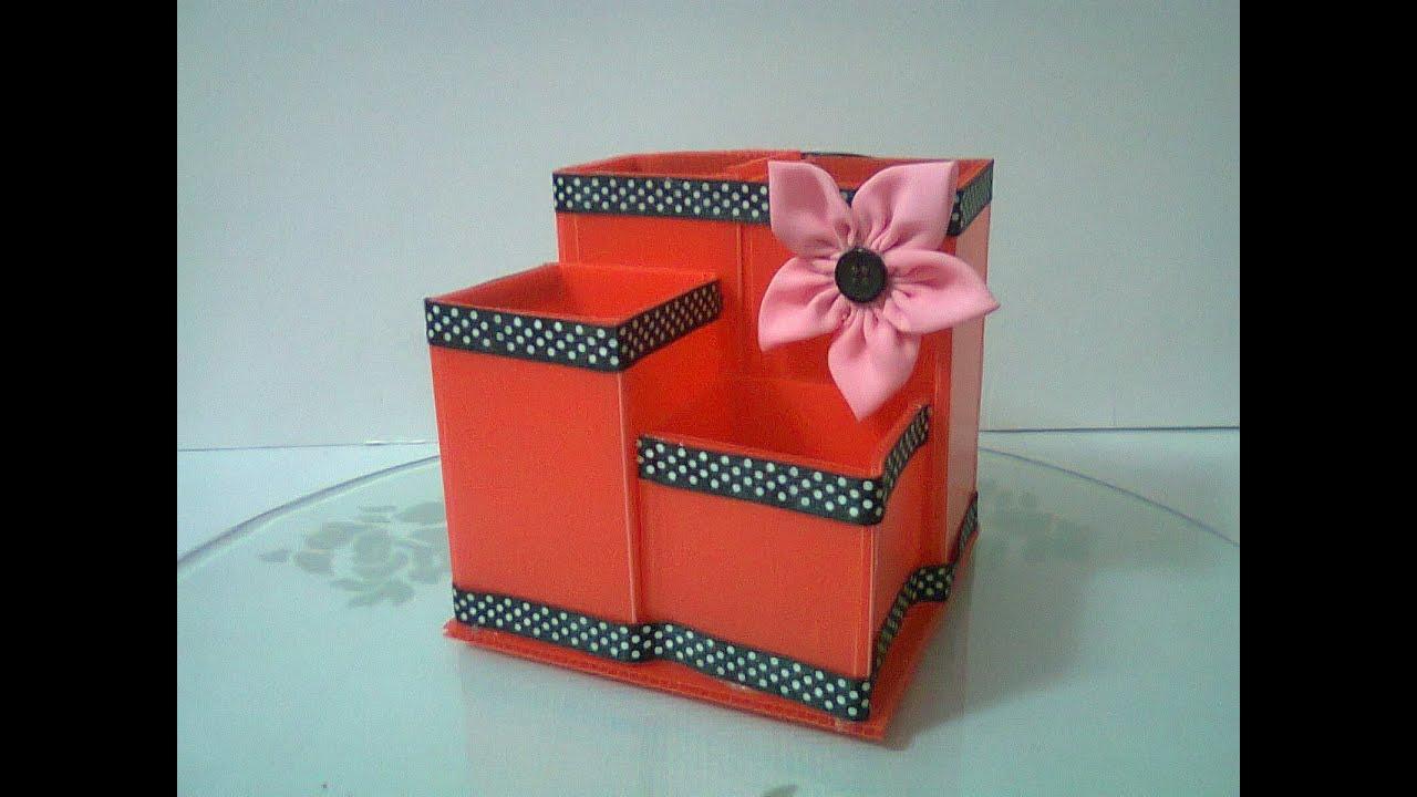 diy 11 cardboard pencil holder youtube. Black Bedroom Furniture Sets. Home Design Ideas