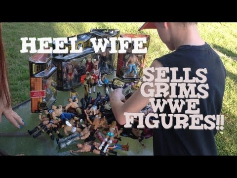 Grims Toy Show ep 470: WWE Mattel elite wrestling action figures yard ...