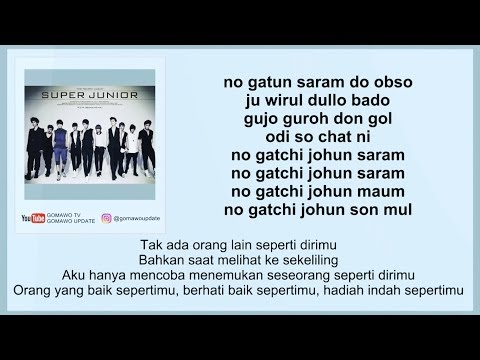 Easy Lyric SUPER JUNIOR - NO OTHER By GOMAWO [Indo Sub]