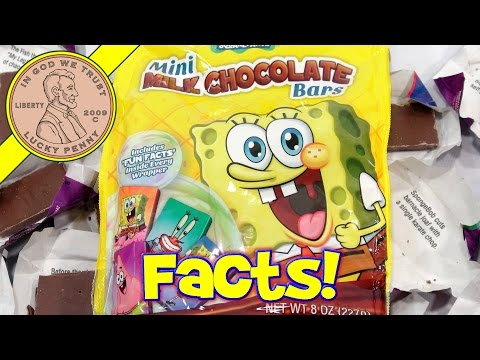 Spongebob Chocolate fun Facts Mini Candy Bars! - Spongeboy? video