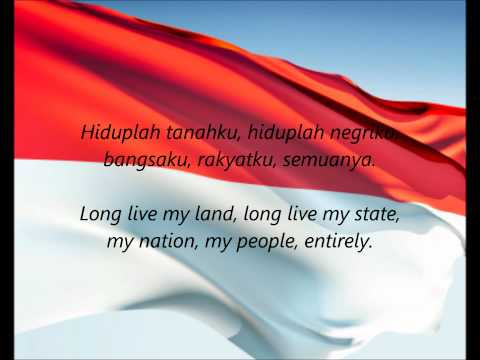 Indonesian National Anthem - indonesia Raya (id en) video