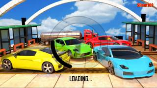 Impossible Crazy Red Car Stunts - Car Rush Racing Game - Android Gameplay - By Silent102