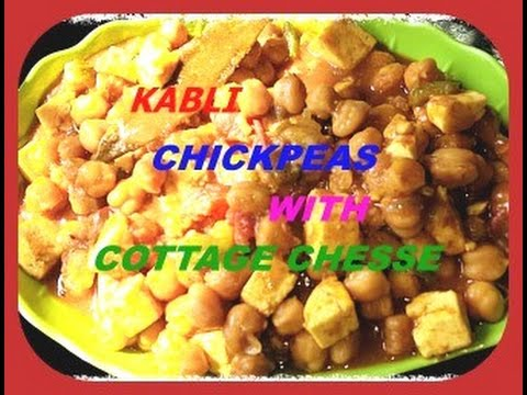Chickpeas(Kabli) With Cottage Cheese Preparation(Chole Paneer Recipe)..!!!