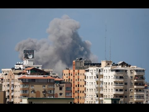 Bombs fall on Gaza as Hamas-Israel rocket exchange intensifies