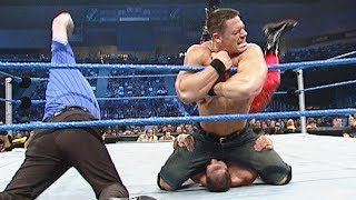 John Cena's first match in jean shorts: SmackDown, Jan. 9, 2003
