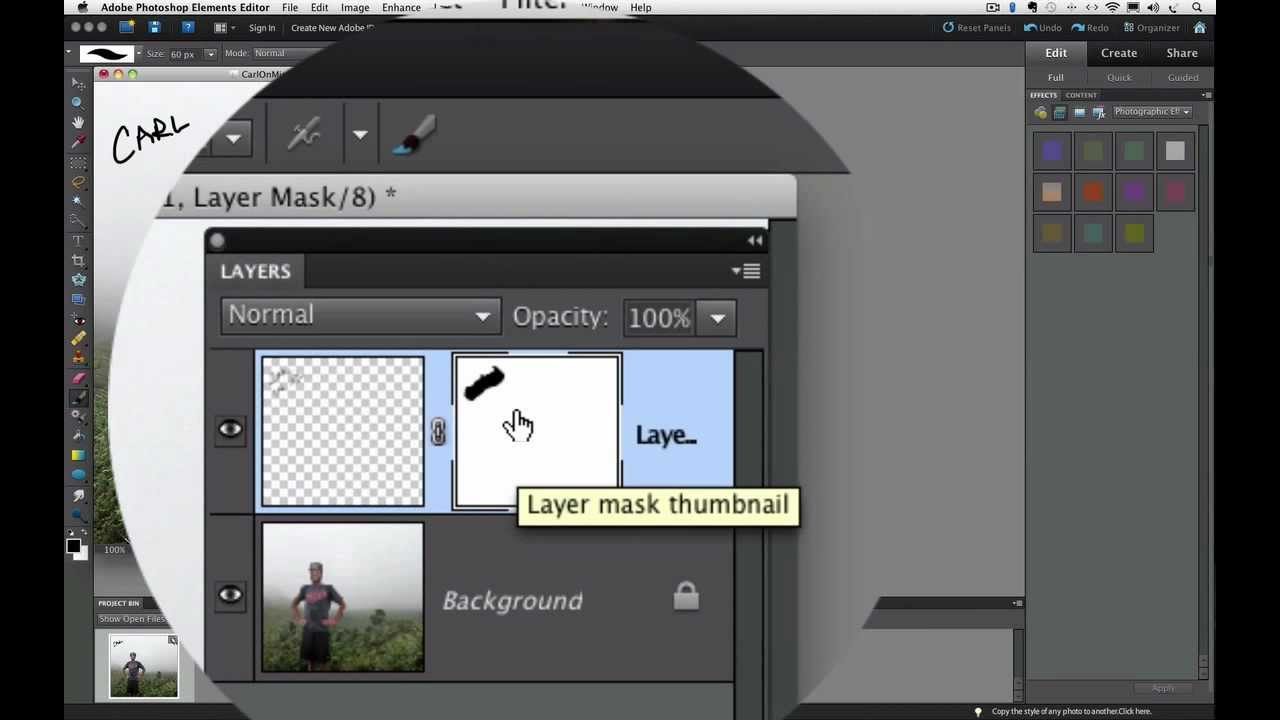 Layer Masking in Photoshop Elements 6 Layer Masks in Photoshop