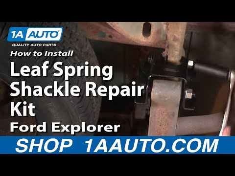 How To Install Replace Rear Leaf Spring Shackle Explorer Sport Trac Mountaineer 91-05 1AAuto.com