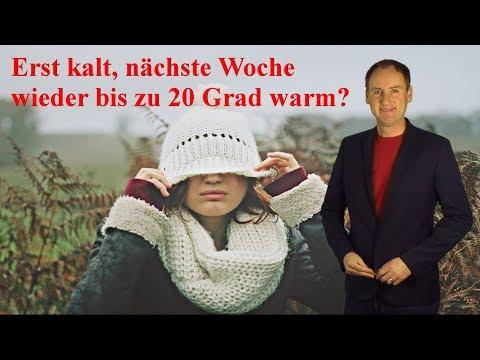Am Wochenende kaltes Wetter, nГchste Woche wieder bis zu 20 Grad mГglich! Mod. Dominik Jung