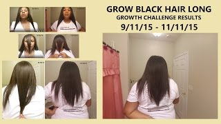 Grow Black Hair Long Fast (Anyone Can Grow) - 8 Week RESULTS