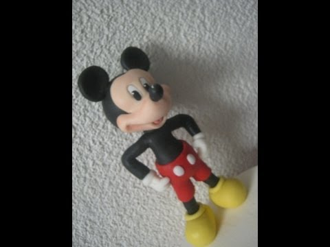 1° Parte Mickey Mouse ( Cake Topper ) Topo do Bolo - Biscuit / Porcelana Fria
