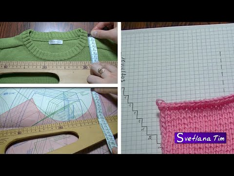 Вязание на спицах.обработка горловины