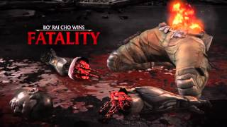 Mortal Kombat X - Bo' Rai Cho (Drunken Master) Klassic Tower, Fatalities And Brutalities