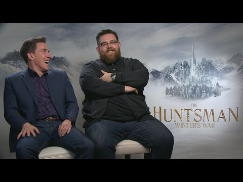 The Huntsman: Rob Brydon and Nick Frost on being dwarfs and Chris Hemsworth being 'too perfect'