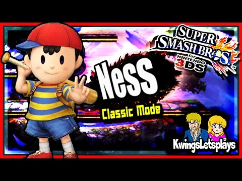 Super Smash Bros 3DS - Classic Mode w/ Ness (direct feed) Gameplay HD