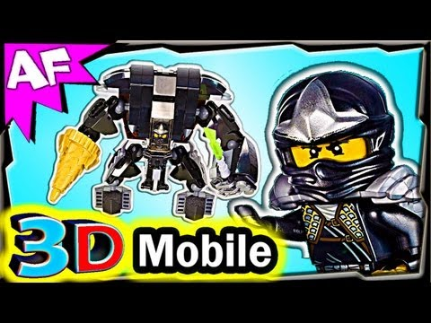 3D mobile COLE's EARTH MECH - Custom Lego Ninjago 70505 Animated Review