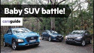 Hyundai Kona vs Honda HR-V vs Mazda CX-3 2019 comparison review