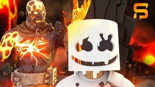 The PRISONER MELTS MARSHMELLO'S FACE....