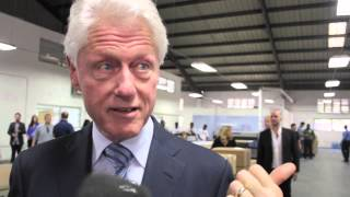 Bill Clinton at Sonapi industrial Park