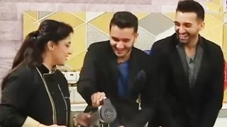 Sham Idrees and Shahveer Jafery cooking in LIVE Show