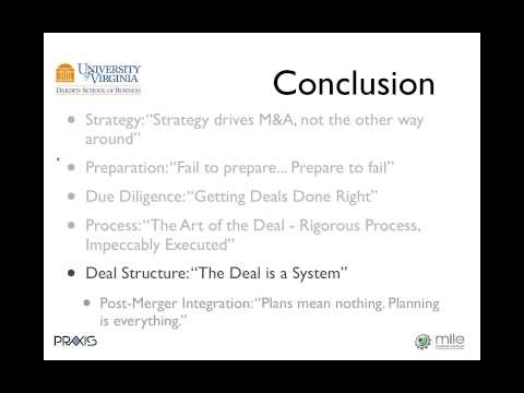 Best Practices in Acquisition Strategy by Dr. Michael J. Ho of Darden Business School - MILE Webinar