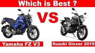 2019 Suzuki Gixxer VS Yamaha FZ V3 🔥Aayush ssm