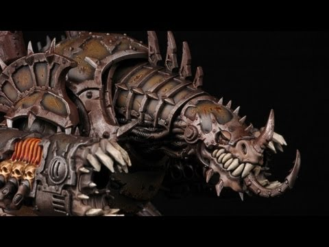 How to paint a Forgefiend? Chaos Space Marines Warhammer 40k Painting Tutorial Airbrush