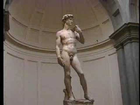 Michelangelo's David, Florence, Italy Video