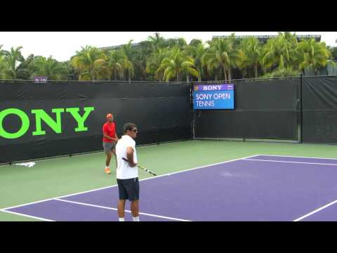 Rafael Nadal practice clip #2 3/24/14