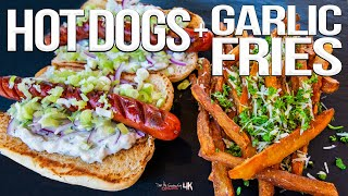 The Best Hot Dog Recipe - with Homemade Garlic Fries! | SAM THE COOKING GUY 4K