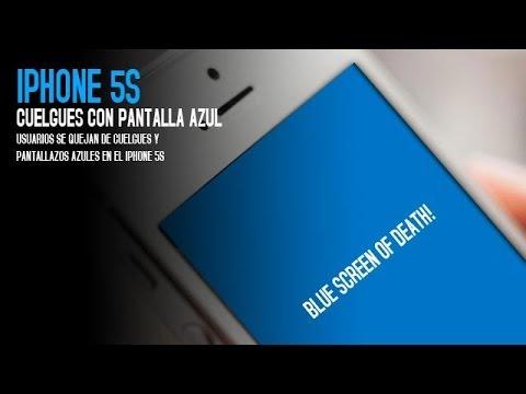 La pantalla azul de la muerte del iPhone 5S