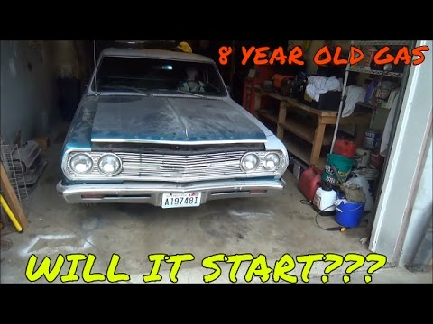 Old start after sitting 8 years 1965 ElCamino.