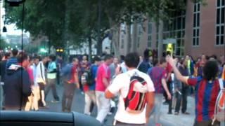 Barcelona Fans Attack Real Madrid Supporter - Final Real Madrid vs. FC Barcelona