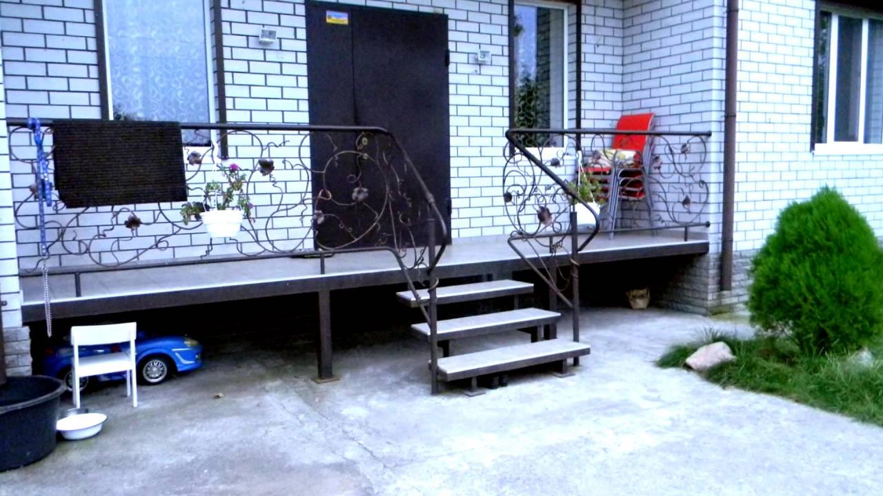 Лестницы из металла на веранду своими руками 20