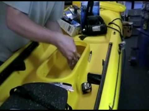 Kayak fishing installation guide trident rod pod hatch for Kayak fish finder install