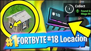 FORTBYTE 18 Location - FOUND SOMEWHERE BETWEEN MEGA MALL AND DUSTY DIVOT (Fortnite)