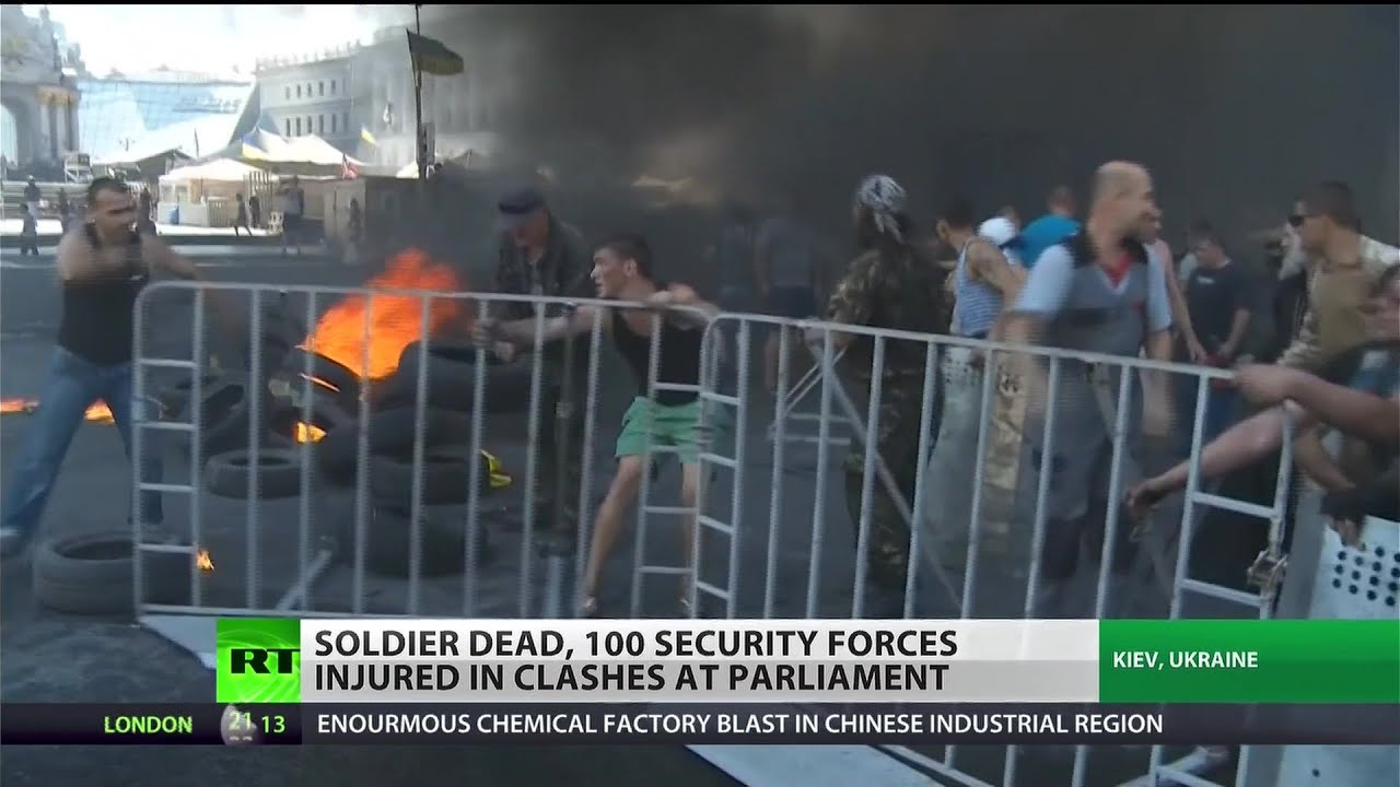 Kiev protests turn deadly, Ukrainian soldier killed