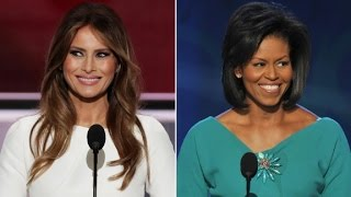 Comparing Melania Trump and Michelle Obama's speeches