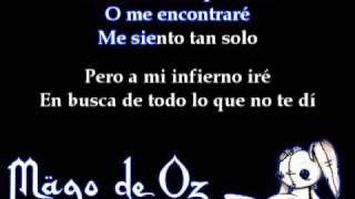 Adios Dulcinea - Mago de Oz (Lyrics)